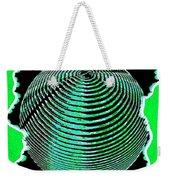 Sphere In Green Weekender Tote Bag