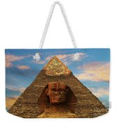 Sphinx And Pyramid Of Khafre Weekender Tote Bag