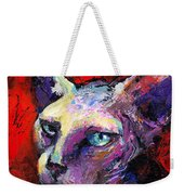 Sphynx Sphinx Cat Painting  Weekender Tote Bag