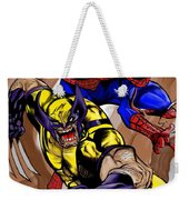 Spider And The Wolverine Weekender Tote Bag