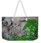 Spider In Thin Air Weekender Tote Bag