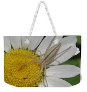 Spider On Daisy Weekender Tote Bag
