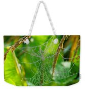 Spider Web Artwork Weekender Tote Bag