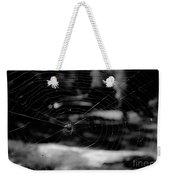 Spider Web Black White Weekender Tote Bag