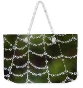 Spider Web Decorated By Morning Fog Weekender Tote Bag