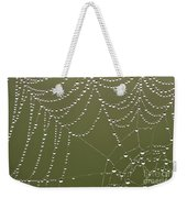 Spider Web With Water Droplets  Weekender Tote Bag