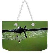 Spiderweb On Fencing Weekender Tote Bag