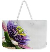 Spikey Passion Flower Weekender Tote Bag