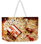 Spilt Tubs Of Popcorn And Movie Tickets Weekender Tote Bag