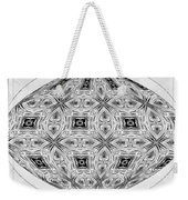 Spinning Globe In Black And White Weekender Tote Bag
