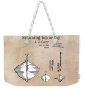 Spinning Top Or Toy Patent Art Weekender Tote Bag