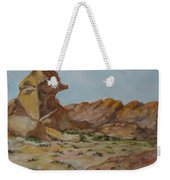 Spinx In The Valley Of Fire Weekender Tote Bag