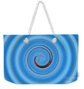 Have A Closer Look. Spiral Art With Light And Dark Blue Embossing Effect.  Weekender Tote Bag
