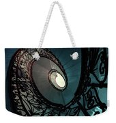 Spiral Ornamented Staircase In Blue And Green Tones Weekender Tote Bag
