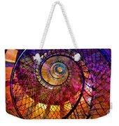 Spiral Spacial Abstract Square Weekender Tote Bag