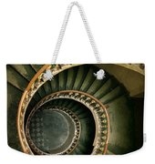 Spiral Staircase  In Green And Yellow Weekender Tote Bag
