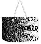 Black Spiral Swirls Weekender Tote Bag