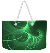 Spiral Thoughts Green Weekender Tote Bag