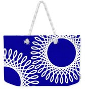 Spirals With Blue Weekender Tote Bag