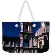 Spire And Cupola St Agnese In Agone Piazza Navona Rome Italy Weekender Tote Bag