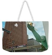 Spirit Of Detroit And People Mover Weekender Tote Bag