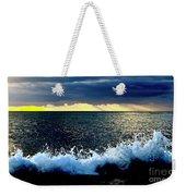 Splash At Sunset Weekender Tote Bag