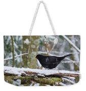Splash. Eurasian Blackbird Weekender Tote Bag