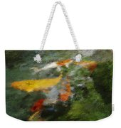 Splash Of Koi Weekender Tote Bag