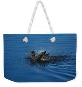 Splashing Cormorant Weekender Tote Bag