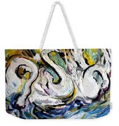 Splashing Swans Weekender Tote Bag