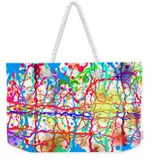 Splatter Paint Weekender Tote Bag