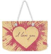 Splattered Love Weekender Tote Bag