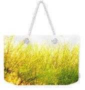 Yellow Splatter Weekender Tote Bag