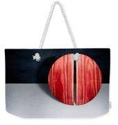 Split Circle Red Weekender Tote Bag