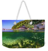 Split Level Reef And Trees With Pier Weekender Tote Bag