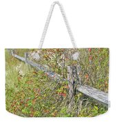 Split Rail Fence And Poison Ivy Weekender Tote Bag