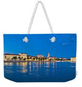 Split Waterfront Blue Hour View Weekender Tote Bag