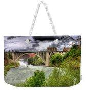 Spokane Falls And Monroe Bridge Weekender Tote Bag