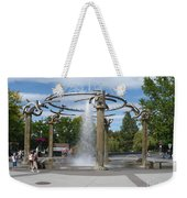 Spokane Fountain Weekender Tote Bag