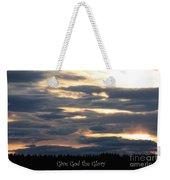 Spokane Sunset - Give God The Glory Weekender Tote Bag