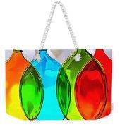 Spoon Bottles-rainbow Theme Weekender Tote Bag