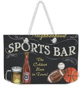 Sports Bar Weekender Tote Bag