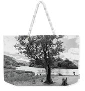 Spot The Woman And Her Dog- Behind The Tree Weekender Tote Bag