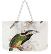 Spotted Bill Aracari Weekender Tote Bag by Edward Lear