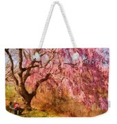Spring - Sakura - A Beautiful Spring Day  Weekender Tote Bag by Mike Savad