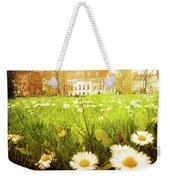 Spring. A Medow Spread With Daisies In Baden-baden, Germany Weekender Tote Bag