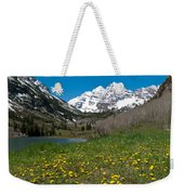 Spring At The Maroon Bells Weekender Tote Bag by Cascade Colors