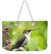 Spring Beauty Hummingbird Square Weekender Tote Bag