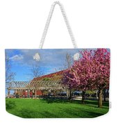 Spring Bloom At Christopher Columbus Park Boston Ma Cherry Blossoms Weekender Tote Bag