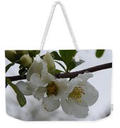 Spring Blooms In White Weekender Tote Bag